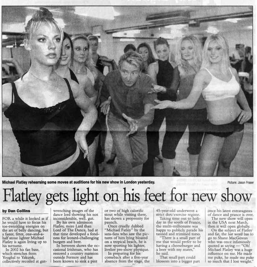 Michael Flatley Celtic Tiger Tour